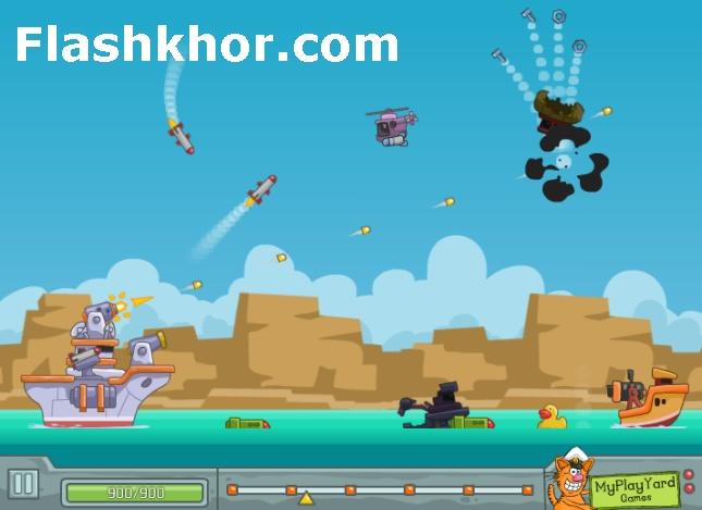 بازی آنلاین فرد کشتی جنگی - قایق سواری کشتی رانی فلش