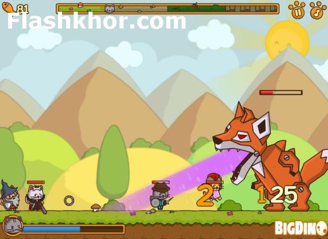 بازی آنلاین حمله نیروی وِیژه گربه ها فلش