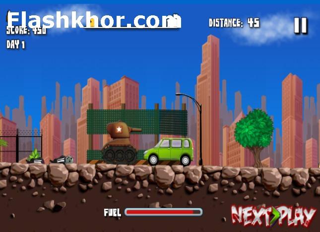 بازی آنلاین تانک ضد زامبی - اکشن فلش