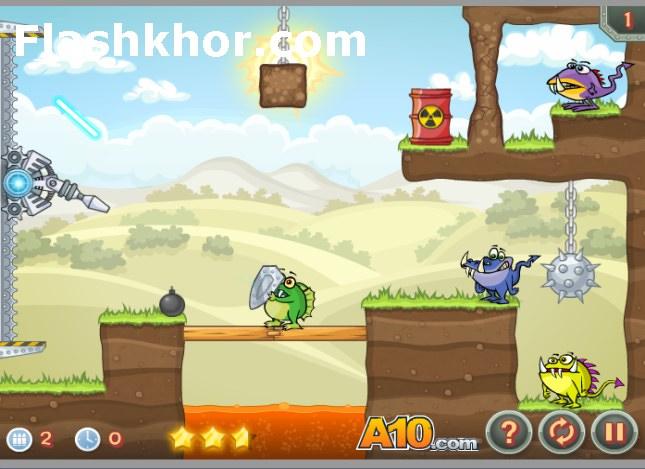بازی آنلاین توپ لیزری 3 - فیزیک فلش