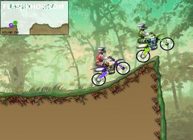 بازی آنلاین موتور سواری مسابقه ای در موانع - ورزشی فلش