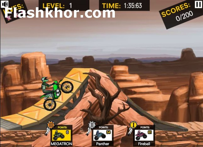 بازی آنلاین موتور سواری حرکات نمایشی تیم اف ام ایکس 2 - ورزشی فلش