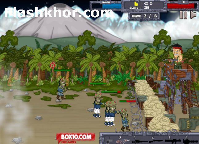 بازی آنلاین زامبی فرار از مرگ فلش