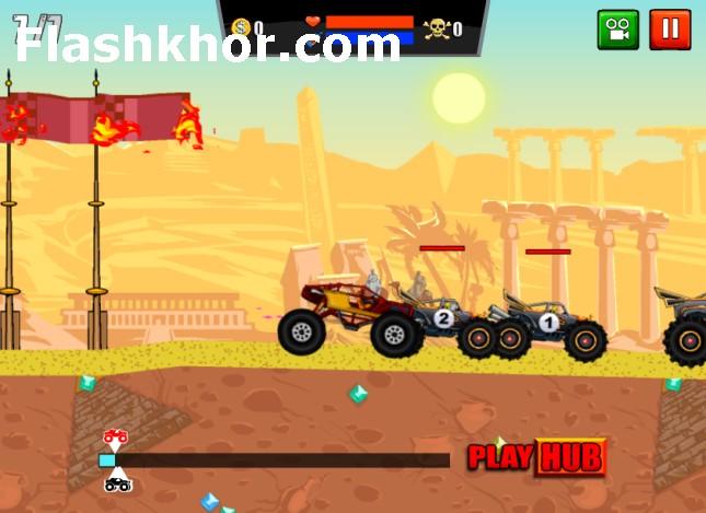 بازی آنلاین ماشین جنگی چالش کامیون دیوانه فلش