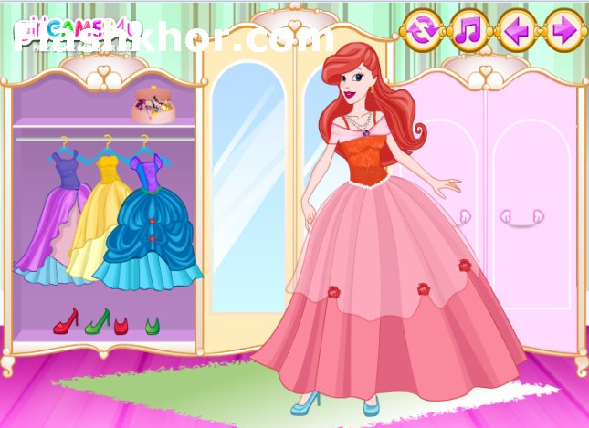 بازی آنلاین آرایش و مدل لباس دو شاهزاده خانم فلش