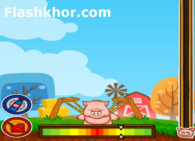 بازی آنلاین وقتی خوک ها پرواز می کنند - موشک فلش