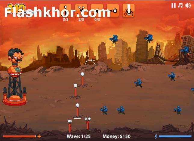 بازی آنلاین دفاع از برج تسلا 2 - استراتژیک فلش