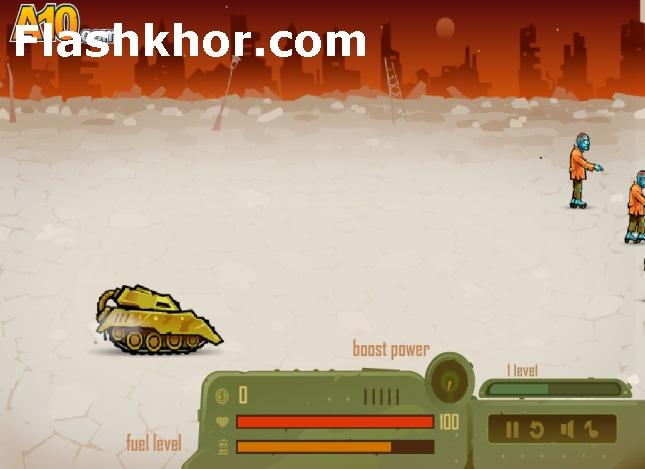 بازی آنلاین خشم تانک در شهر زامبی ها - اکشن فلش