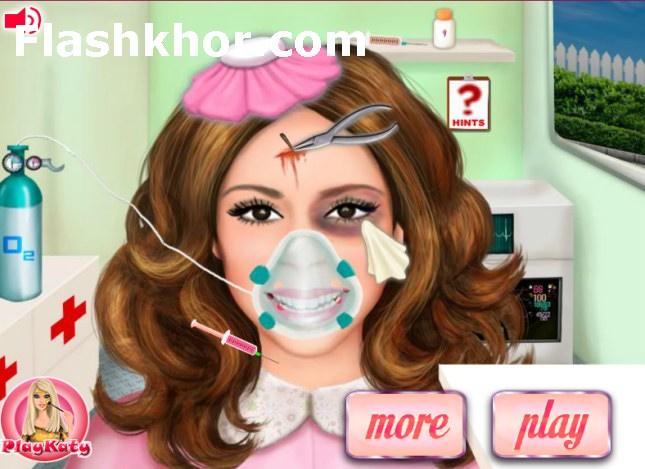 بازی آنلاین دکتری باربی بعد از تصادف - پزشکی دخترانه فلش