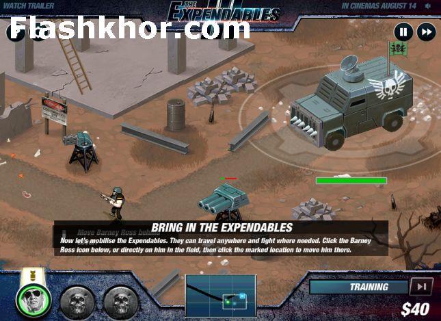 بازی آنلاین جنگی بی مصرف ها 3 - دفاع از برج فلش