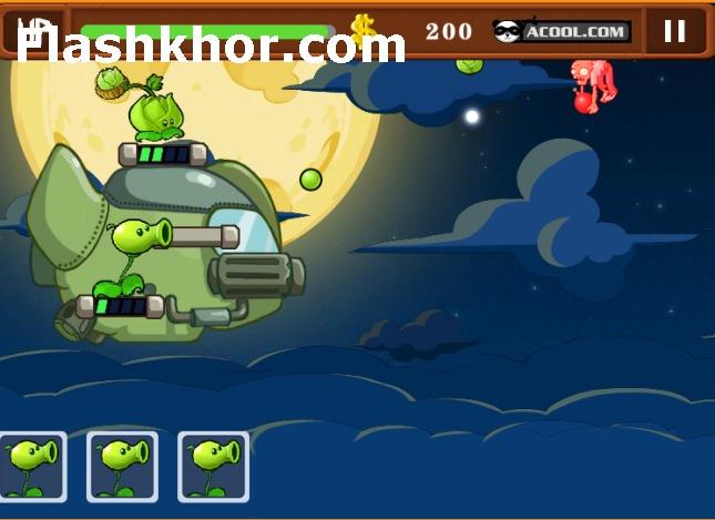 بازی آنلاین گیاهان علیه زامبی ها plants vs zombies جنگ ستارگان فلش
