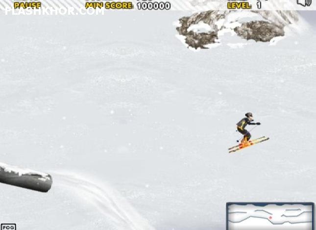 بازی آنلاین شبیه سازی اسکی سواری - ورزشی فلش