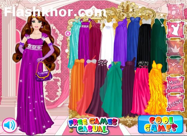 بازی آنلاین مدل لباس شاهزاده خانم آراسته دخترانه فلش