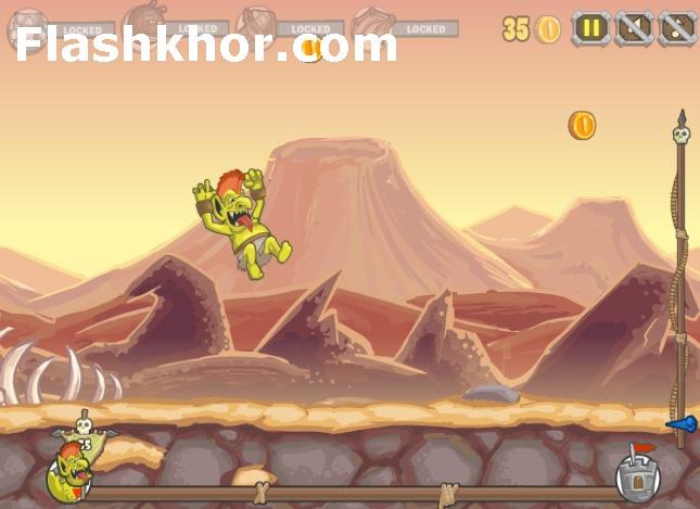 بازی آنلاین پرتاپ گوبلین 2 - اکشن فلش