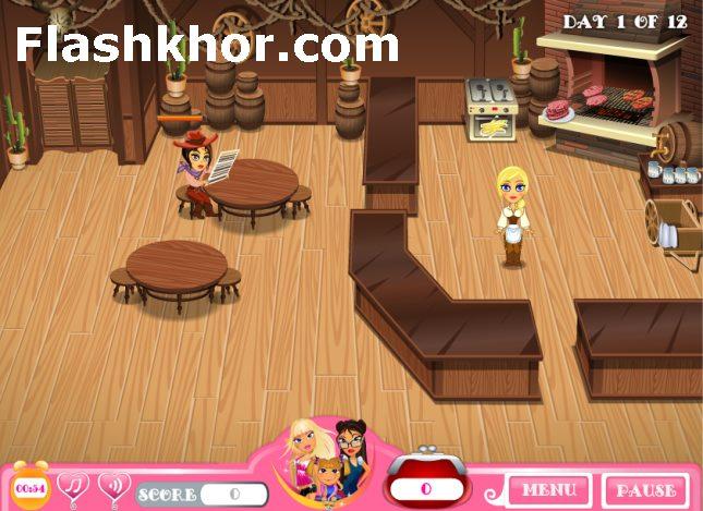 بازی آنلاین رستوران داری خانم جنیفر در تگزاس - دخترانه مدیریتی فلش