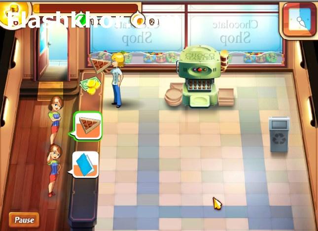 بازی آنلاین رستوران داری فروشگاه شکلات فرنزی دخترانه مدیریتی فلش
