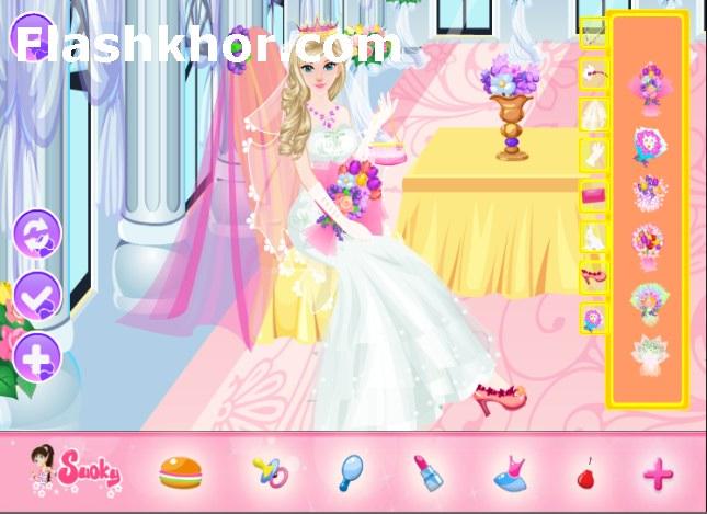 بازی آنلاین آرایشگری عروس تالار شاهزاده دخترانه فلش