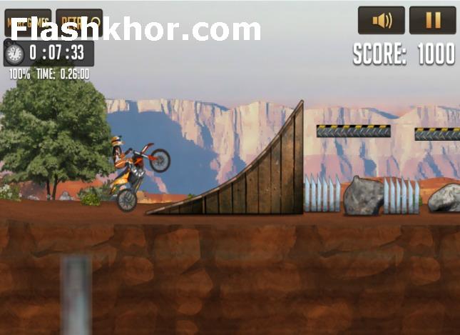 بازی آنلاین دوچرخه سواری مسابقات جاده خاکی آمریکا ورزشی فلش