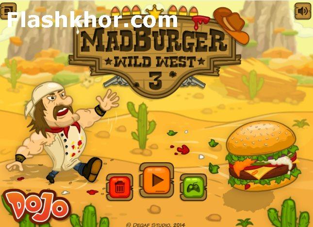 بازی آنلاین پرتابی همبرگر دیوانه 3 فلش