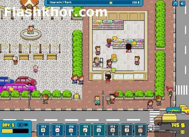 بازی آنلاین مدیریت فروشگاه خوشحال فلش