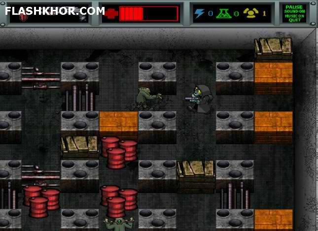 بازی آنلاین شکارچی ارواح - اکشن بمبر من bomberman فلش