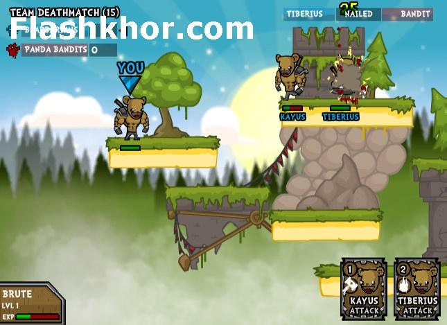 بازی آنلاین خرس های جنگاور جنگی فلش