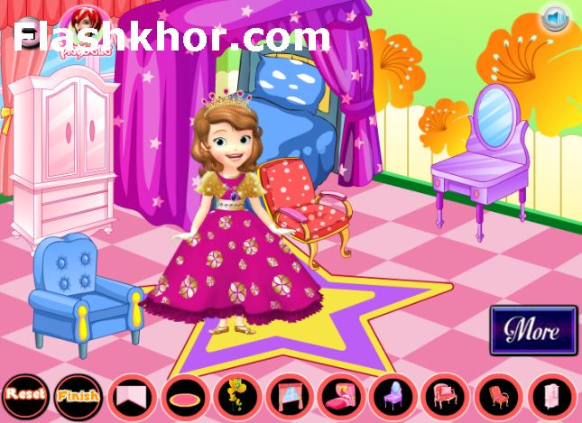 بازی آنلاین دکوراسیون خانه باربی سوفیا دخترانه فلش