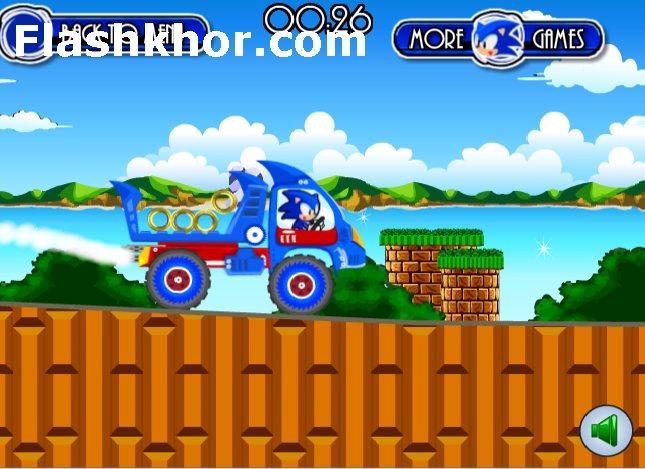 بازی آنلاین سونیک کامیون سواری فلش
