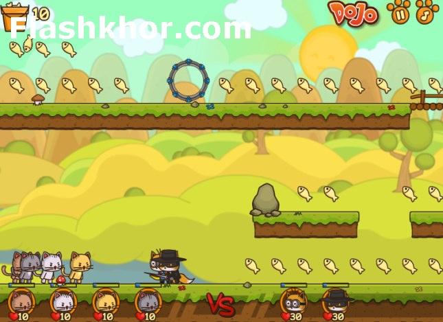 بازی آنلاین حمله نیروی ویژه گربه ها 2 فلش