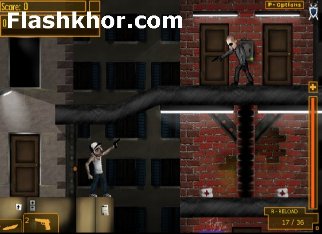 بازی آنلاین گانگستر پدرو قفس مرگبار تیراندازی فلش