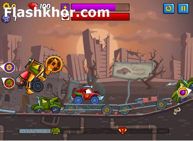بازی آنلاین ماشین جنگی ماشین می خورد ماشین 2 فلش