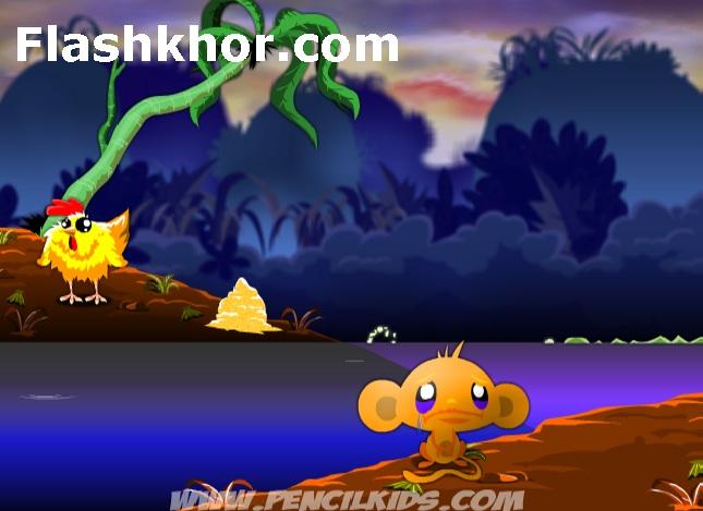 بازی آنلاین معمایی شاد کردن میمون 5 فلش