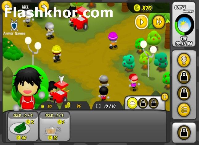 بازی آنلاین مدیریت فروشگاه های تایکن فلش