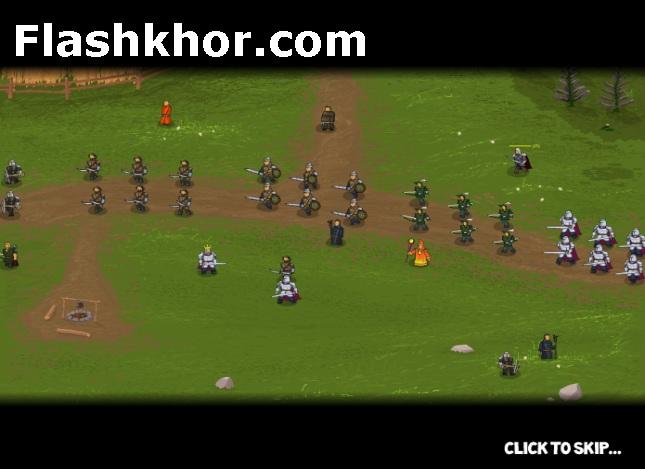 بازی آنلاین استراتژیک جنگاوران پادشاه جنگی فلش