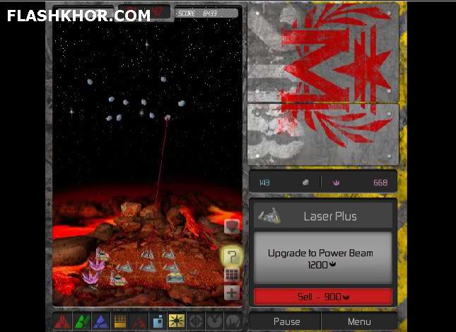 بازی آنلاین سنگ های ماه - استراتژی فلش