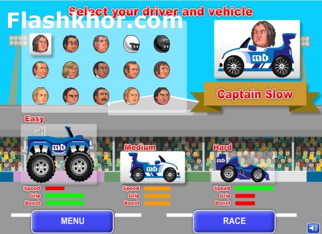 بازی آنلاین ماشین سواری بین کله ها ورزشی فلش