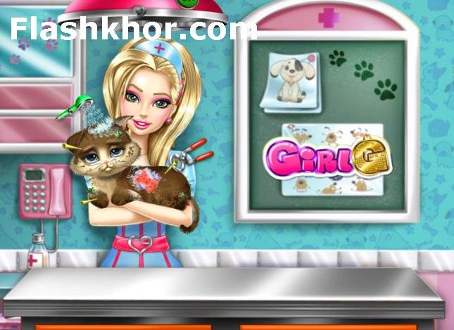 بازی آنلاین مراقبت از حیوانات خانگی گربه فلش
