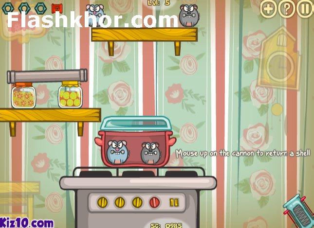بازی آنلاین موش های مهاجم 2 فکری فلش