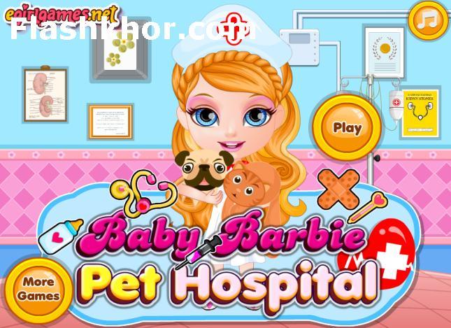 بازی آنلاین بچه باربی و مراقبت از حیوانات خانگی فلش