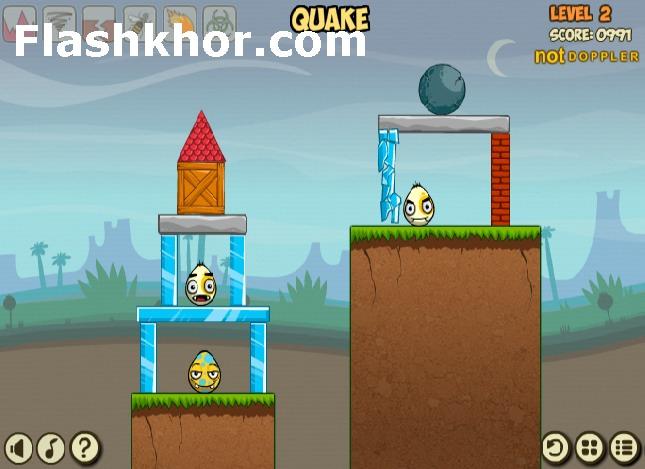 بازی آنلاین تخم مرغ های رنگی فیزیک فلش
