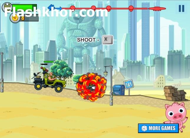 بازی آنلاین جیپ سواری روز دیوانه فلش