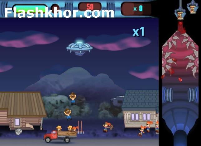 بازی آنلاین بشقاب پرنده فضایی فلش