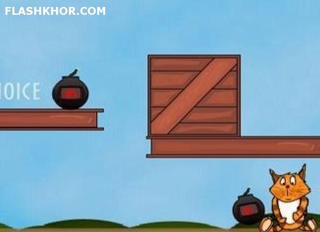بازی آنلاین گربه بمب افکن - فکری  فلش