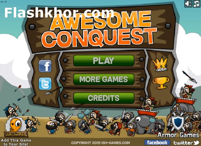 بازی آنلاین جنگی برای کامپیوتر فاتح عالی فلش