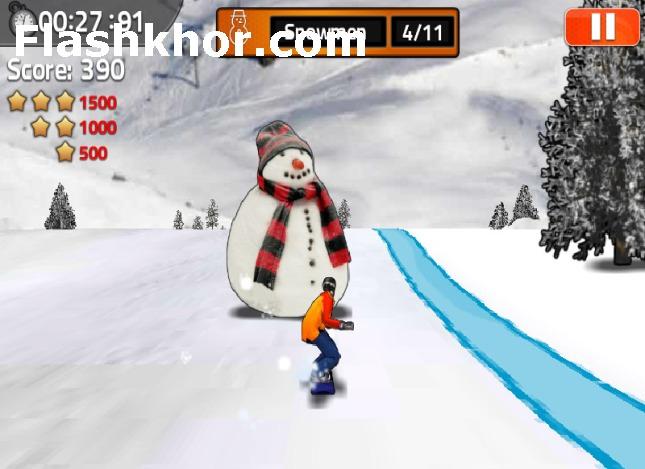 بازی آنلاین اسنوبرد پادشاه فلش