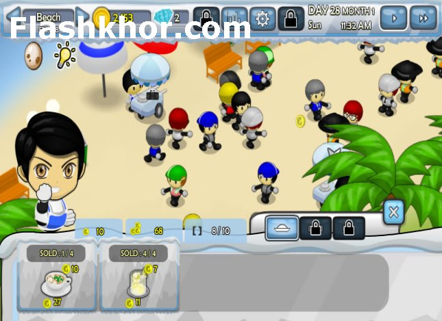 بازی آنلاین فروشگاه های زنجیره ای مدیریتی فلش