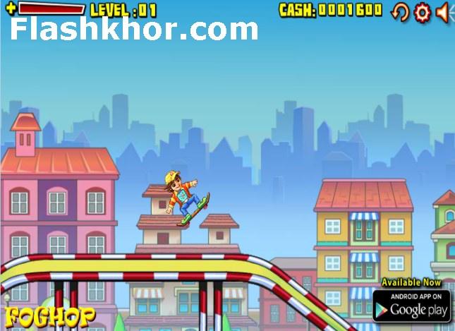 بازی آنلاین بازی اسکیت بورد برای کامپیوتر اندروید فلش