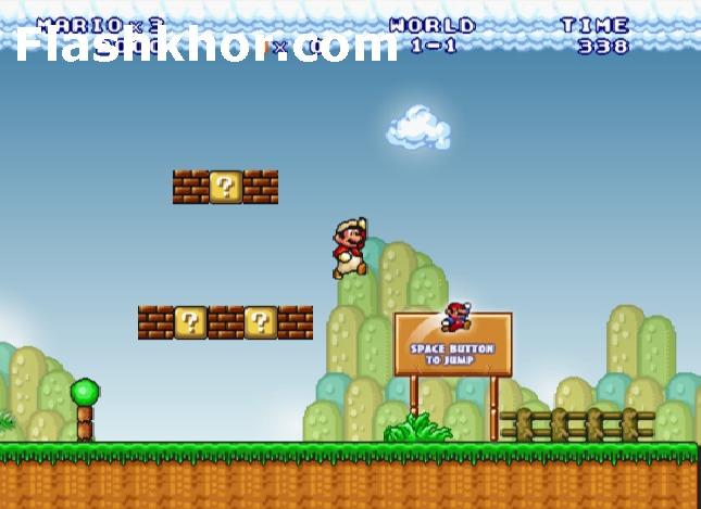 بازی آنلاین قارچ خور برای کامپیوتر جدید ماریو فلش