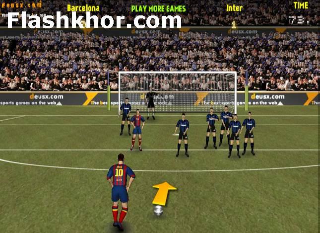 بازی آنلاین فوتبال کم حجم برای کامپیوتر اندروید فلش