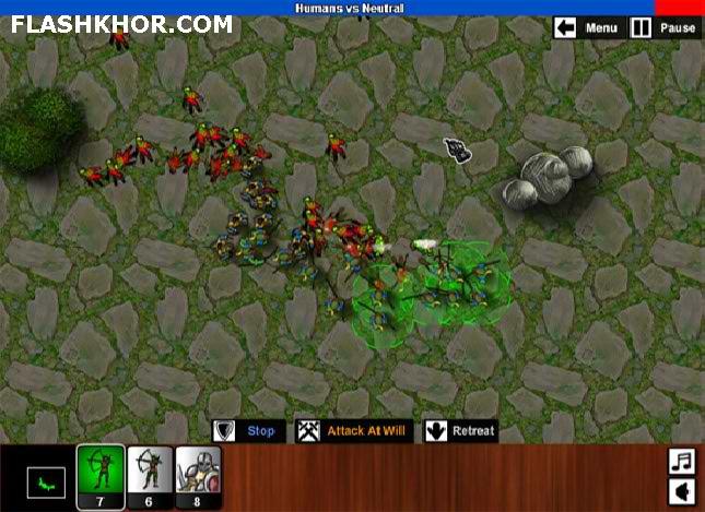 بازی آنلاین نهایت جنگ - استراتژی فلش